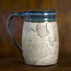 Hey, I found this really awesome Etsy listing at https://www.etsy.com/listing/87169945/rustic-woodland-blue-ceramic-coffee-mug