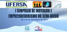 Banner elaborado para o I Simpósio de Inovação e Empreendedorismo do Semi-Árido.    Impresso em lona.
