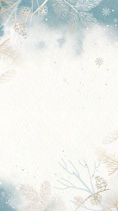 Download premium vector of Winter background mobile phone wallpaper vector