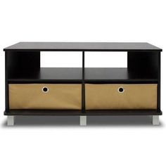 Entertainment Center with 2 bin drawers