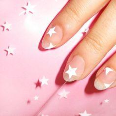Nail accessories: stars, nail art, nail stickers, july 4th, negative space nail art - Wheretoget