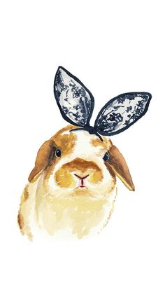 Stylish bunny iPhone wallpaper