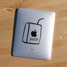 apple juice box ipad sticker