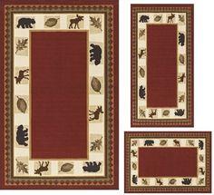MODERN Lodge Cabin Moose Baby Bear 3 PIECE AREA RUG SET RED Dalyn,http://www.amazon.com/dp/B0053D7KIO/ref=cm_sw_r_pi_dp_7SqKsb0BG73SDYW4