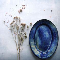 Stoneware platter www.meadowceramics.com - handmade Danish ceramics