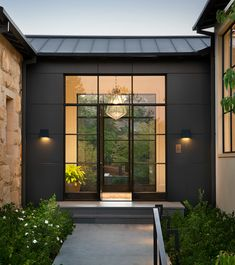 by genna margolis ( Modern Entrance Door, Modern Barn House, Secret House, Modern Mountain Home, Shed Homes, Entry Foyer, Next At Home, Landscape Architecture, Exterior Design