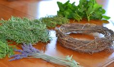 This post gives instructions on how to make an herbal wreath.