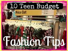 SusieQTpies Cafe: 10 Teen Budget Fashion Tips