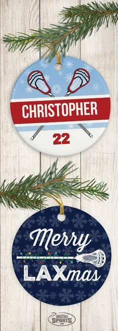 These fun and festive ornaments are a great way to showcase your lacrosse pride!