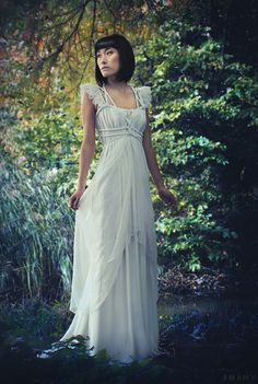 "Draped Wedding- Dress ""Dragonfly No. 1"", ROHMY Gold Label /// Bridal Gown /// Wedding Dress /// Summerdress /// Eden Collection"