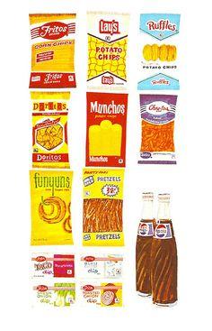 Vintage Frito-Lay Illustration by gregg_koenig, via Flickr