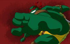 Three toed Raphael kicking at you face! TMNT