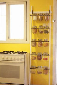 Spice rack from towel rack