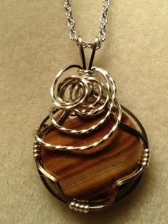 Jasper Gemstone Hand Wire Wrapped Pendant on by Just4FunDesign, $27.00