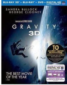 Gravity Starring Sandra Bullock on Blu-ray and DVD