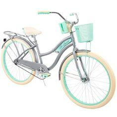 Huffy Womens Nel Lusso Cruiser Bike with Perfect Fit Frame, Blue Beach Cruiser Bikes, Cruiser Bicycle, Beach Cruisers, Bicycle Helmet, Road Bike Women, Bicycle Women, Bicicletas Huffy, Cool Bike Accessories, Cruiser Bike Accessories