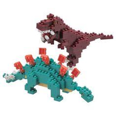 Nanoblocks Stegosaurus and Tyrannosaurus Rex
