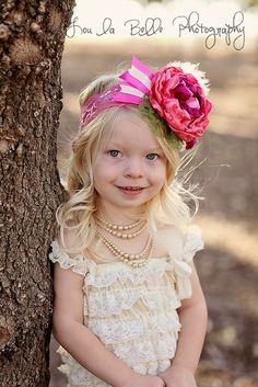 children photography, child, little girl, two years old, headband, lace romper, Utah photography, lou la belle photography, pose, vintage photo shoot