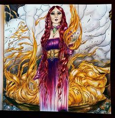 A Game Of Thrones coloring book. #gameofthronescoloringbook #melisandre #pamelazellers Game Of Thrones Images, Game Of Thrones Art, Coloring Book Pages, Coloring Sheets, Harry Potter Movies, Colorful Pictures, Watercolor Pencils, Watercolour, Color Inspiration