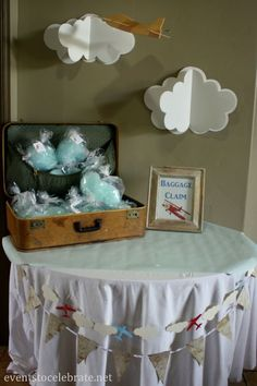 Vintage Airplane Baby Shower Favors, FREE Printables, Games and more - http://eventstocelebrate.net
