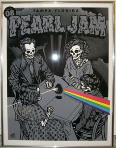 Pearl Jam poster framed by FRAME NATION, via Flickr