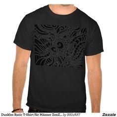 Dunkles Basic T-Shirt für Männer ZenZia