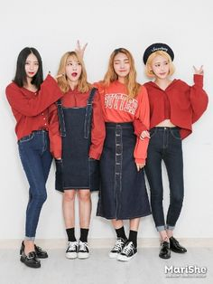 ˗ˏˋ ♡ @ e t h e r e a l _ ˎˊ˗ Cute Fashion, Look Fashion, Girl Fashion, Fashion Outfits, Womens Fashion, Kpop Outfits, Korean Outfits, Cute Outfits, Ulzzang Fashion