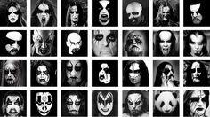 black metal make up (& panda bear)  Kiss does not belong here.