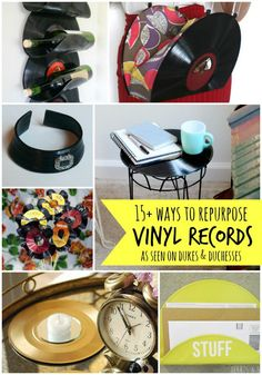 Grab some old vinyl records at the thrift store and check out these fabulous ways to repurpose them!