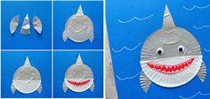 manualidades_con_capsulas_de_papel_de_cupcakes_tiburon