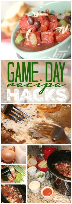 Game Day Recipe Hacks! Quick and easy party food ideas for snacks and recipes for the big game!