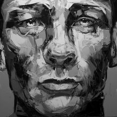 daniel craig portrait shown in grayscale to evaluate value of colors.