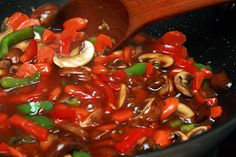 One of our favorite meatless meals - Veggie Stir-Fry! Yummy!!