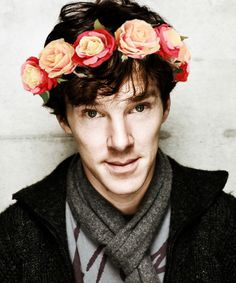 benedict cumberbatch in a #flowercrown