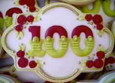 .Oh Sugar Events: 100th Birthday Cookies