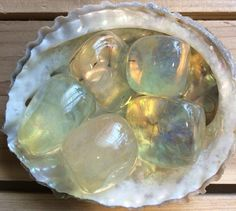Yellow Obsidian Tumbled Stone Reiki Inflused by SoulswithHeart