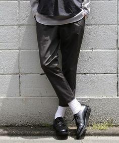 tc1タックストレッチテーパードイージーアンクルパンツ 男性ファッション ファッション アメカジ