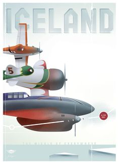Here's Iceland, one of the 7 vintageDisney Planesposters Stéphane Kardos didfor promotion,with one of the most talented designers at Disney, Bret Healey.