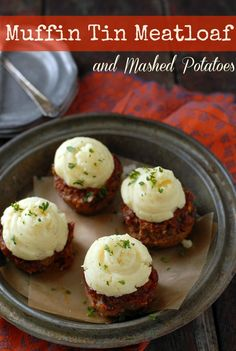Muffin Tin Meatloaf with Mashed Potatoes | BoulderLocavore.com *use ground turkey for a healthier twist on this amazing recipe!