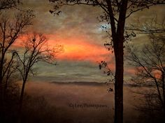 Textured Carolina Sunset Dark Abstract Photograph by Putterpaws