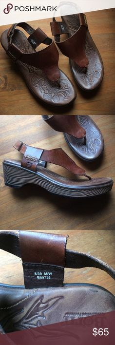 Born barely worn t-strap sandals with a heel size8 Born leather sandals with heel strap, size 8. They are lightweight, made with leather upper. Have been used maybe twice. In great condition! A lovely addition to any closet! Born Shoes Sandals