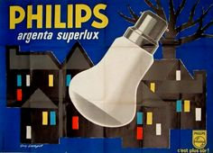 Guy Georget ▪ Ampoules Philips Argenta Superlux, 1950.