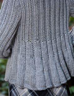 Swing Jacket Free Knit Pattern from Yarnspirations | Aran/10ply on 8mm needles - actual link