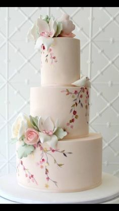 10 beautiful wedding cakes that will win you over - Bolo de Casamento Beautiful Wedding Cakes, Gorgeous Cakes, Pretty Cakes, Amazing Cakes, Elegant Wedding, Floral Wedding, Wedding Cake Inspiration, Wedding Cake Designs, Love Cake