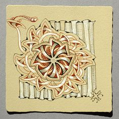 Rixty, an official tangle by Maria Thomas, Zentangle founder.