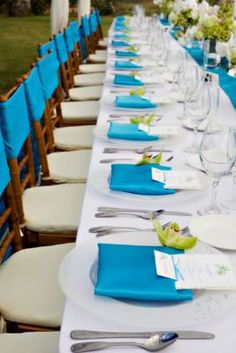 1000 images about mariage turquoise blanc ivoire - Deco table blanc ...