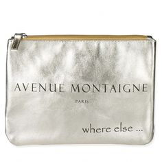 Where Else CITIZEN Ave Montaigne Clutch French Chic! Casual Soft gold metallic clutch with zipper for your grand entrance. € 36.00