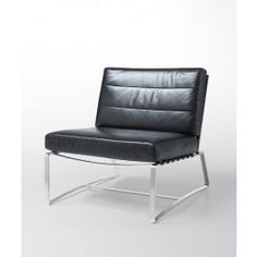 Modern Black Full Leather Liesure Chair. Leather LoungeModern ...