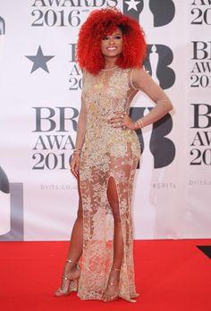 Le tapis rouge des Brit Awards 2016----Fleur EAST Fleur East, Brit Awards 2016, Formal Dresses, Style, Fashion, Red Carpet, Dresses For Formal, Swag, Moda