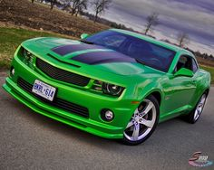 green camaro- oh my goodness it's so beautiful!